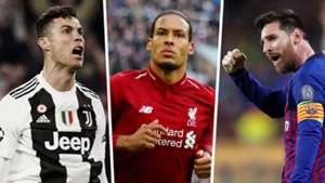 Cristiano Ronaldo Virgil Van Dijk Lionel Messi