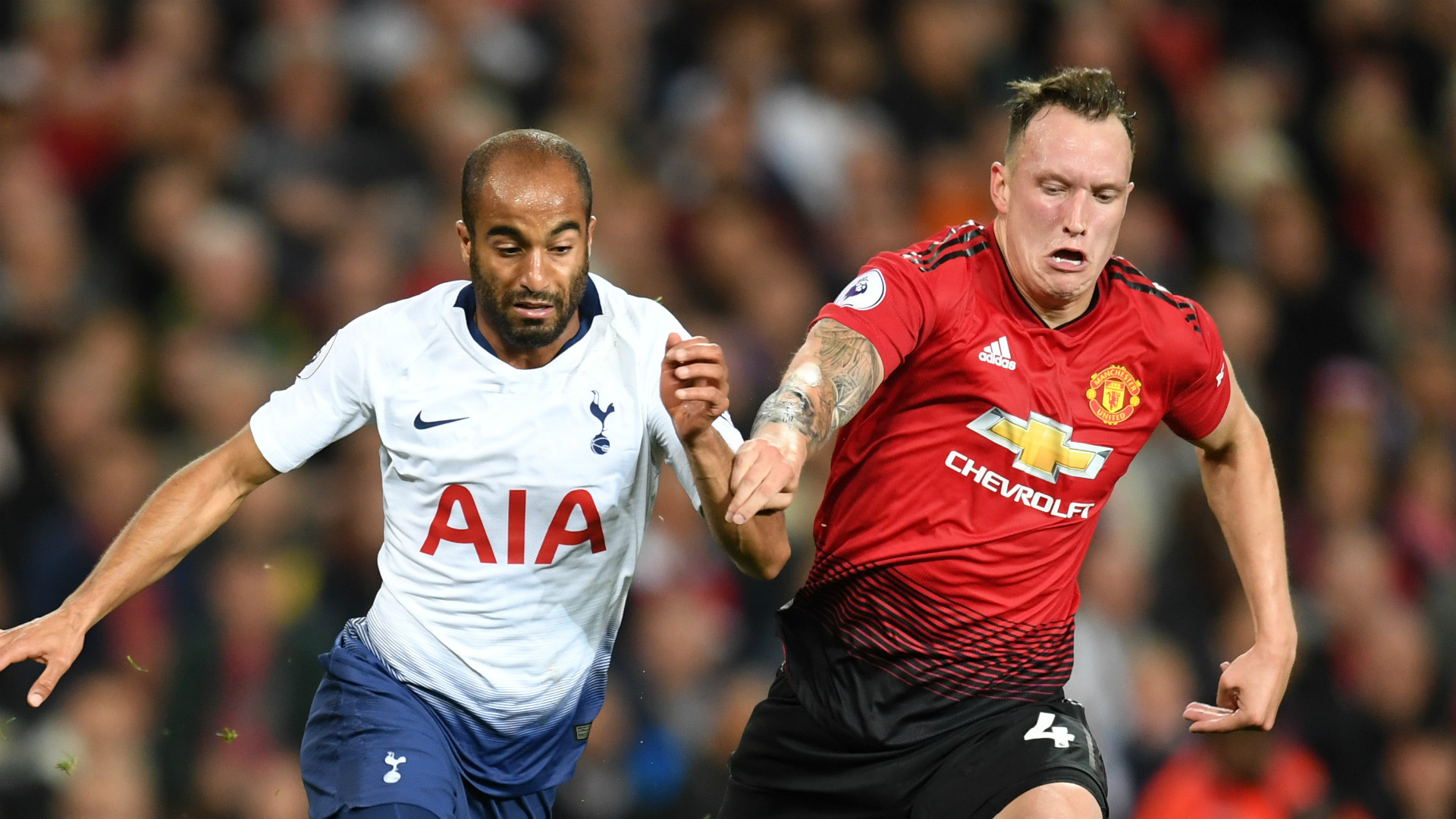 Lucas Moura Phil Jones Tottenham Manchester United 2018-19
