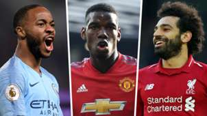 Raheem Sterling Paul Pogba Mohamed Salah