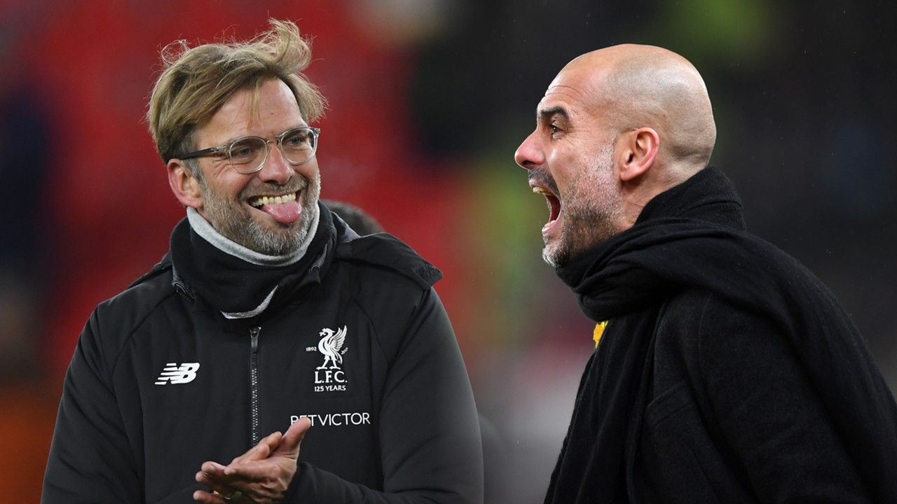 Image result for klopp and guardiola