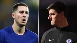 Eden Hazard Thibaut Courtois Chelsea