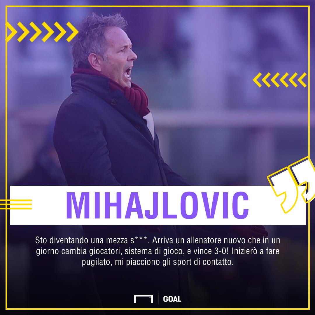 Mihajlovic torna a parlare: