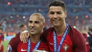 Ricardo Quaresma Cristiano Ronaldo Portugal Euro 2016