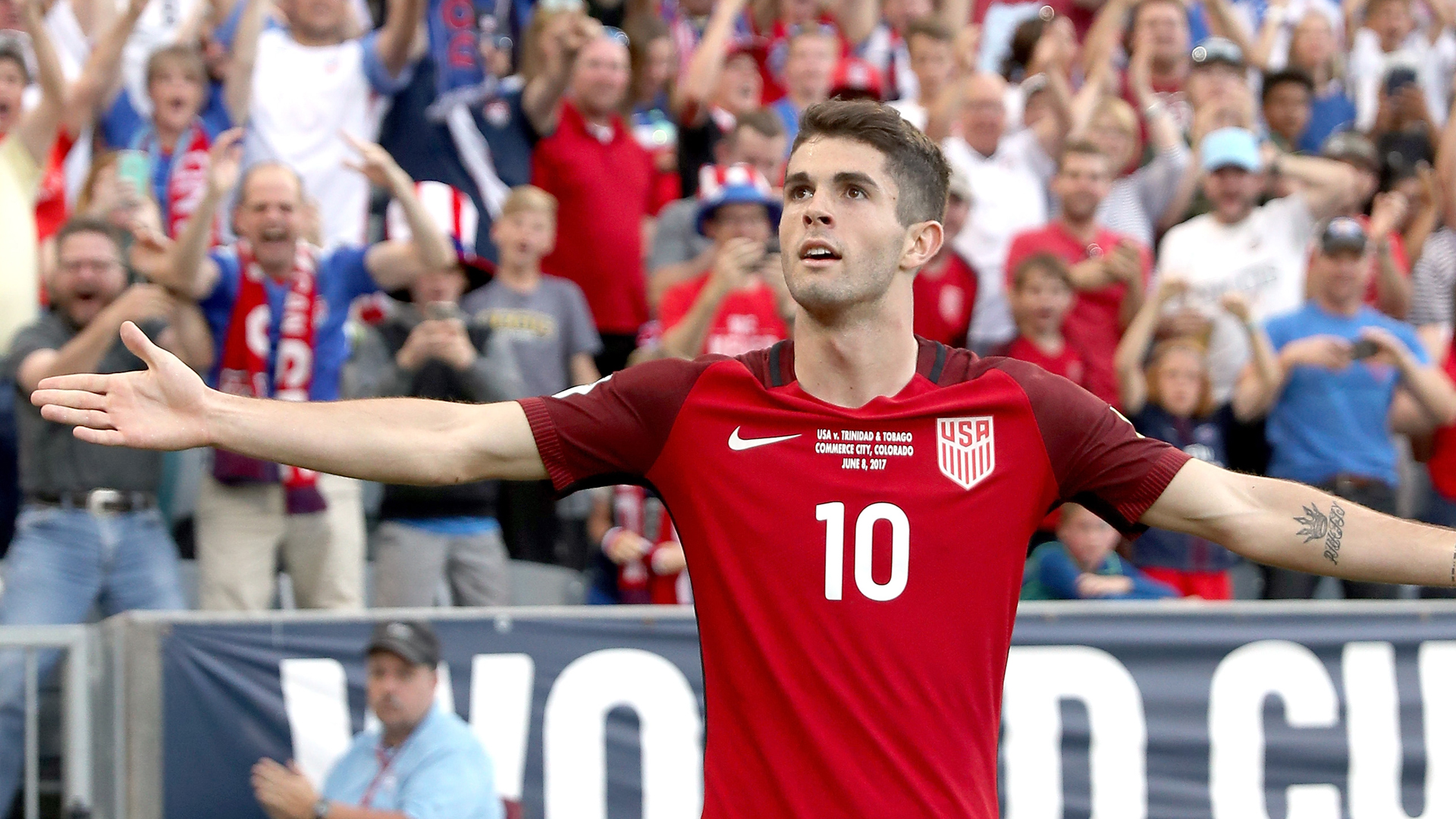 Christian pulisic usa trinidad and tobago 06082017