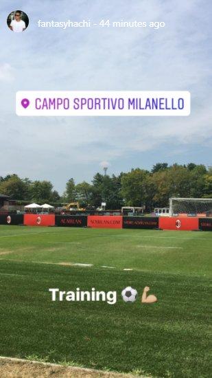 Hachim Mastour AC Milan training