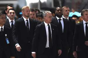 Leicester City players at Vichai Srivaddhanaprabha's funeral