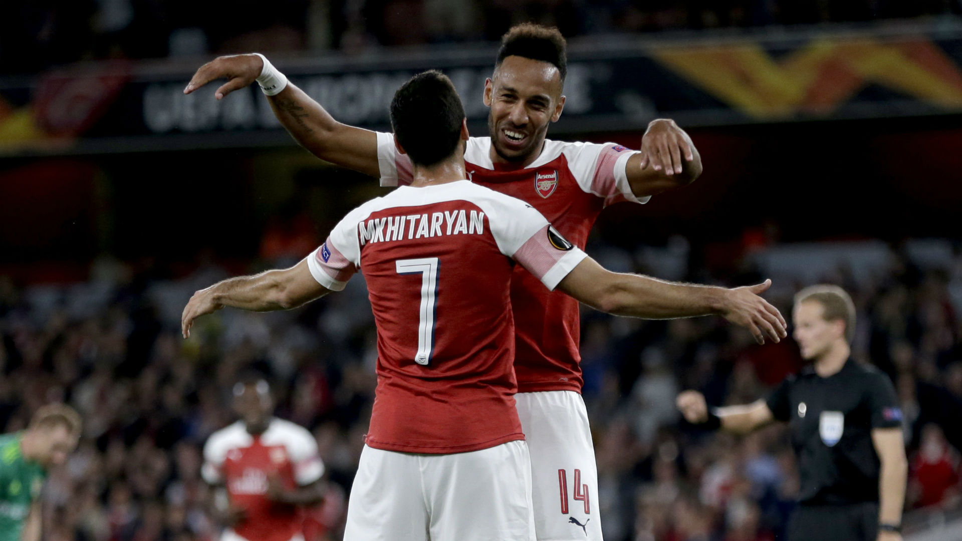 Pierre-Emerick Aubameyang Henrikh Mkhitaryan Arsenal Europa League 2018