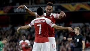 Pierre-Emerick Aubameyang Henrikh Mkhitaryan Arsenal Europa League 2018