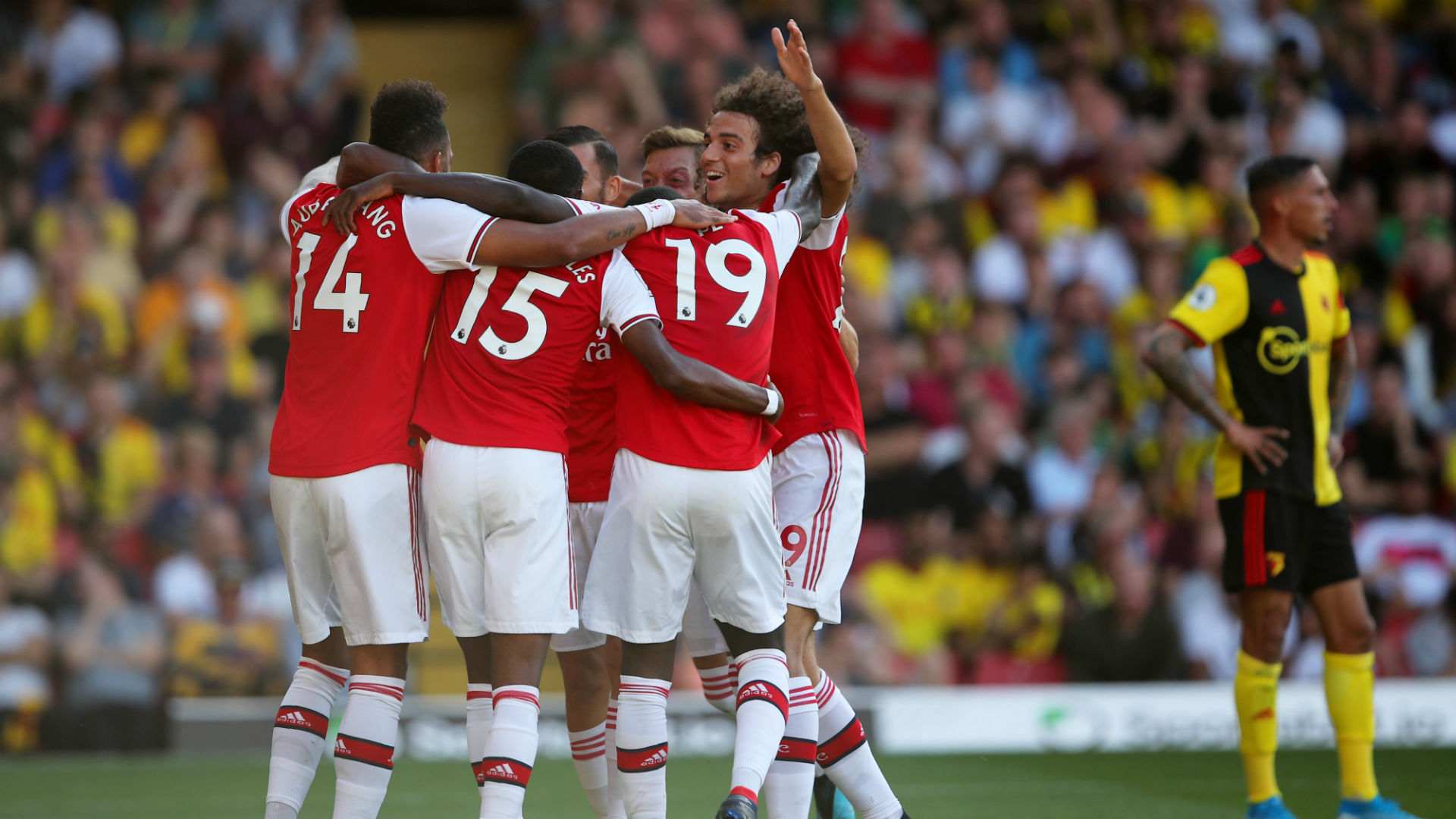 Watford v Arsenal Goal Celebration 09152019