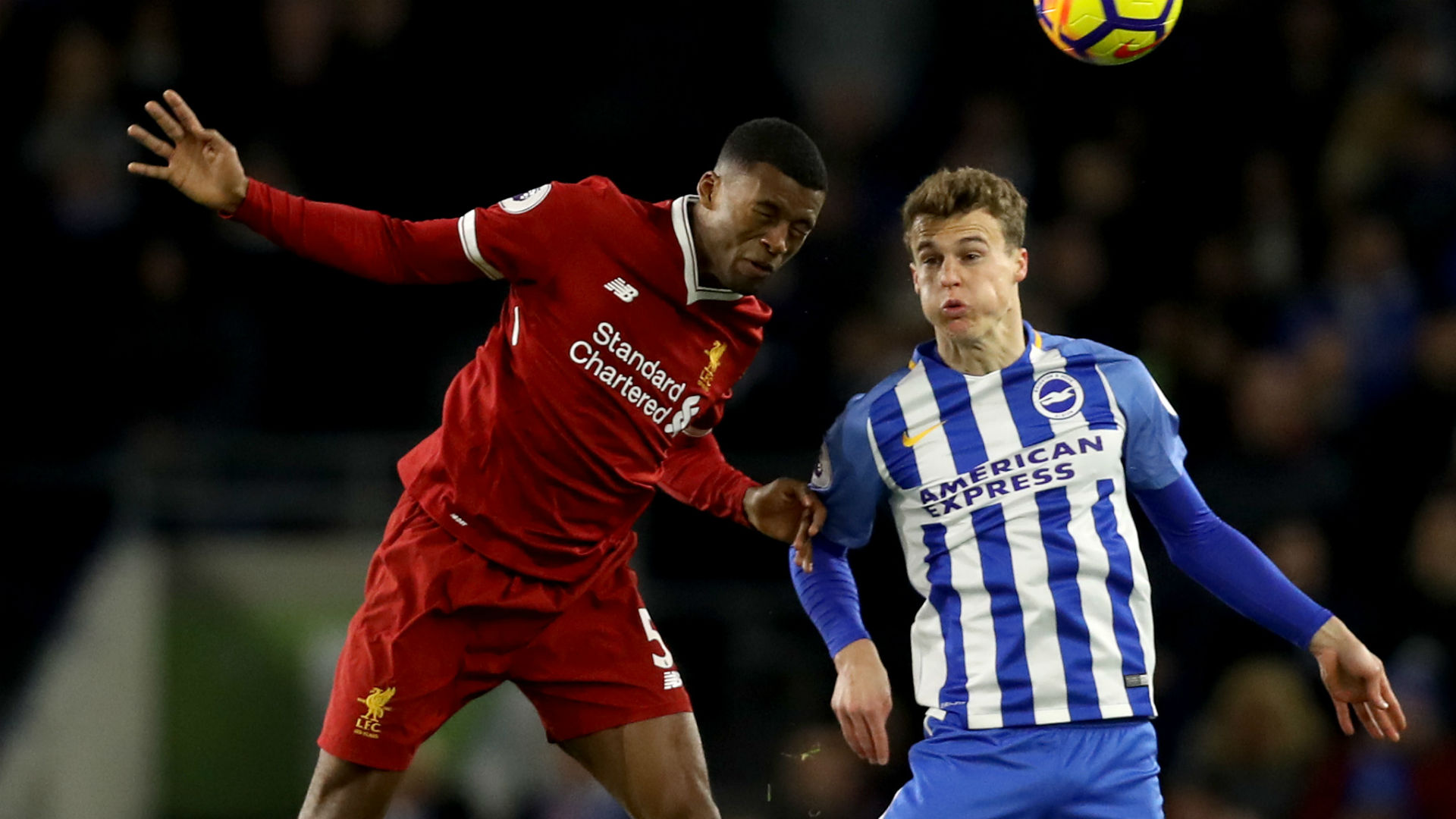Brighton and Hove Albion v Liverpool - fans' view
