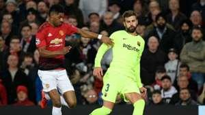 Marcus Rashford Gerard Pique Manchester United Barcelona Champions League 2019