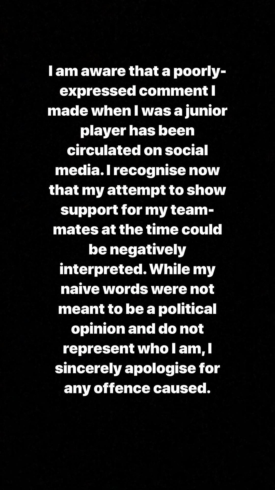 EMBED ONLY Declan Rice apology