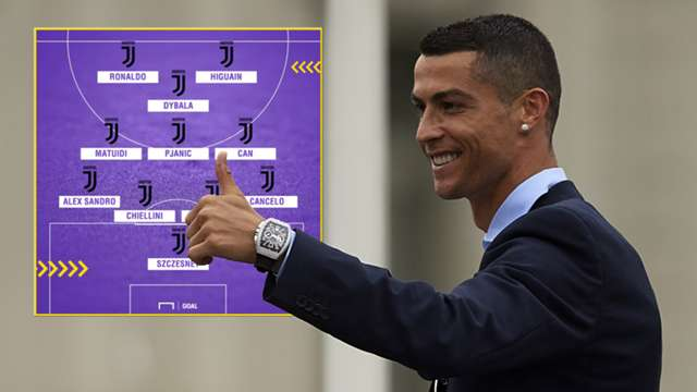 Ronaldo to Juventus: How Juventus could line up with