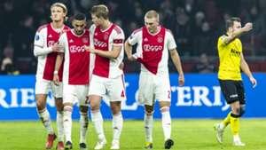 Kasper Dolberg Hakim Ziyech Matthijs de Ligt Ajax 02022019