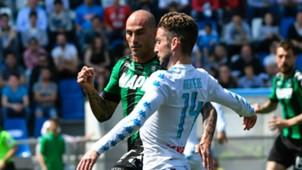 Cannavaro Mertens Sassuolo Napoli