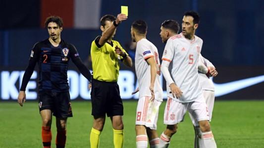 croatia spain - uefa nations league - vrsaljko busquets - 15112018