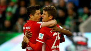 Robert Lewandowski Thomas Muller Bayern Munich 29042017