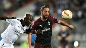 Gonzalo Higuain AC Milan Dudelange