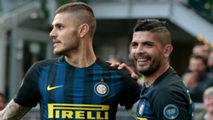 Mauro Icardi Ever Banega Inter Atalanta Serie A