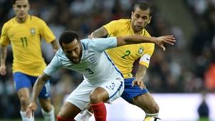 Ryan Bertrand Dani Alves England Brazil Friendly 14112017