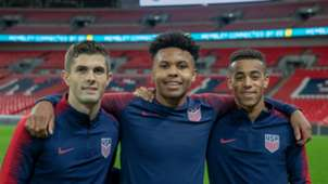 Christian Pulisic Weston McKennie Tyler Adams USMNT 11142018