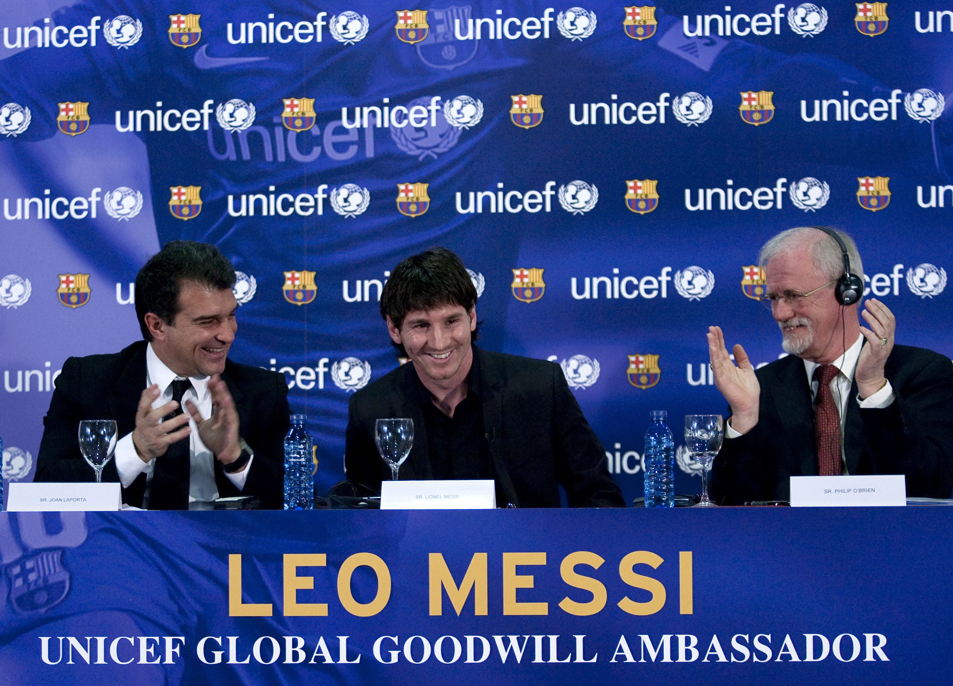 Messi with Laporta