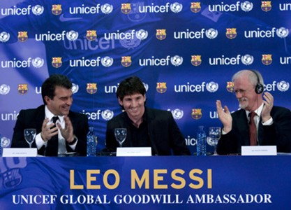 Messi with Laporta