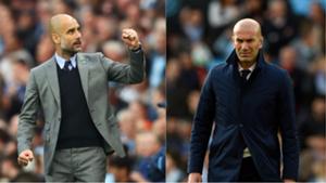 Zidane and pep guardiola