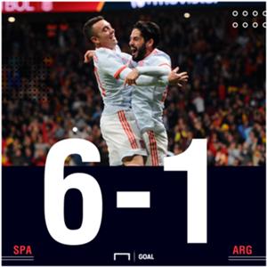 Spain Argentina score