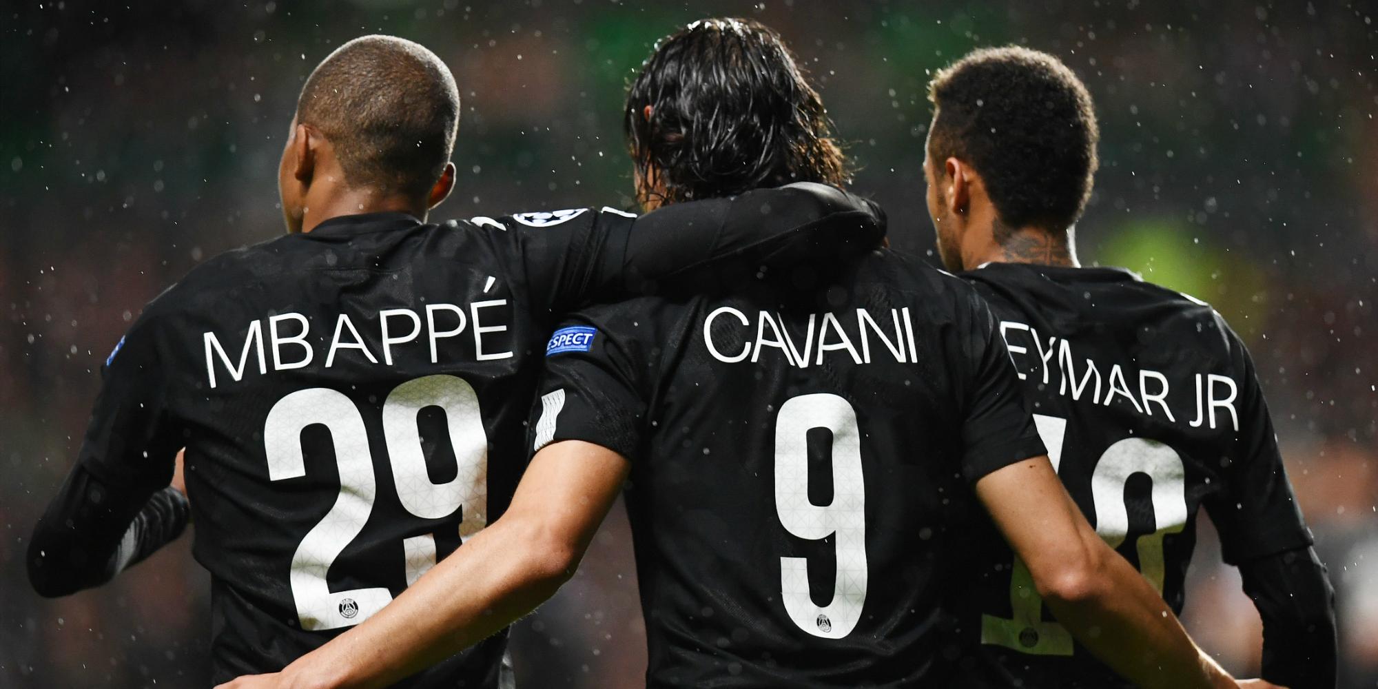 Kylian Mbappe Edinson Cavani Neymar Celtic Psg Champions League