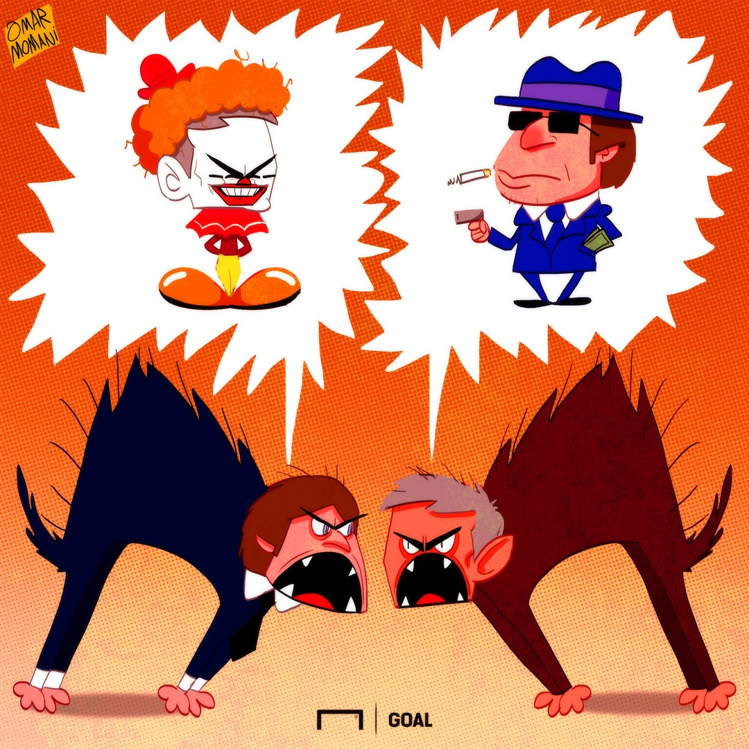Kartun Goal Internasional 2018 - Perang Mulut Jose Mourinho & Antonio Conte