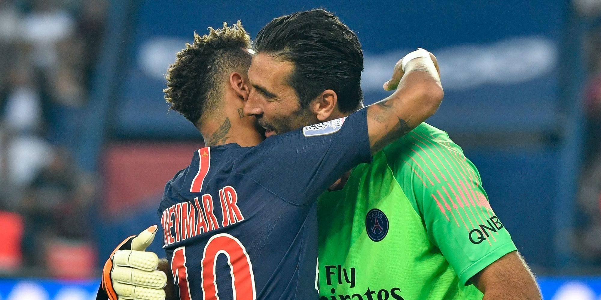 Neymar Gianluigi Buffon PSG Caen Ligue 1 08122018