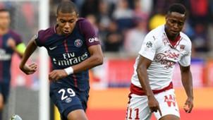 Kylian Mbappe Francois Kamano PSG Bordeaux Ligue 1 30092017