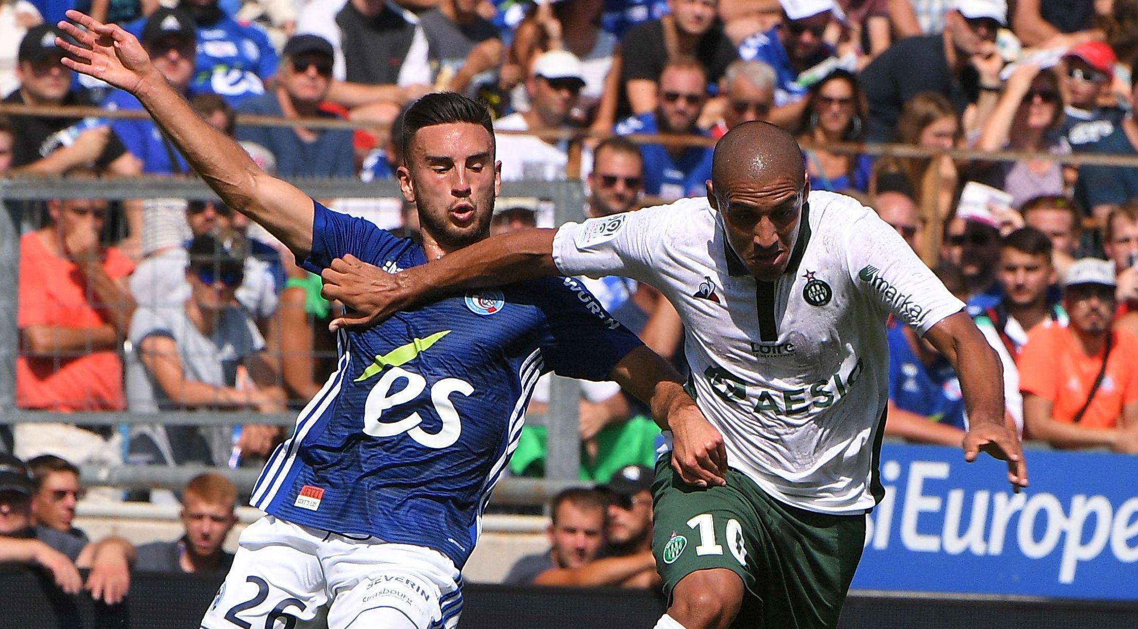 Wahbi Khazi Adrien Thomasson Strasbourg Saint-Etienne Ligue 1 19082018