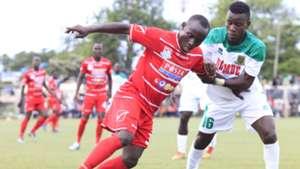 LIKONO GERSON of Posta Rangers and DAVID OWINO of Mathare United