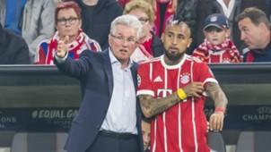 *GER ONLY* Jupp Heynckes Arturo Vidal FC Bayern München