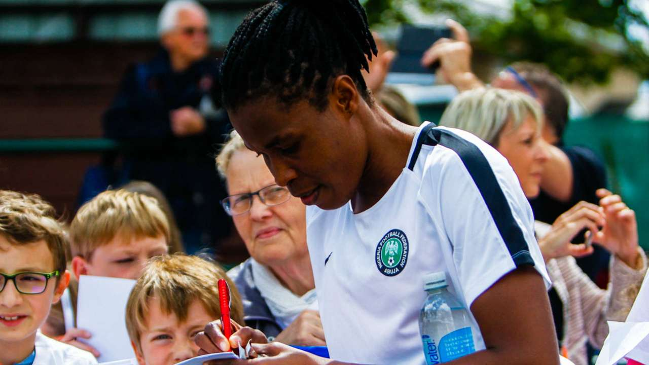 Super Falcons train in Reims