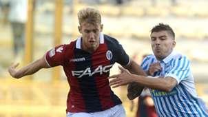 Filip Helander, Alberto Paloschi, Bologna, SPAL, Serie A, 15102017