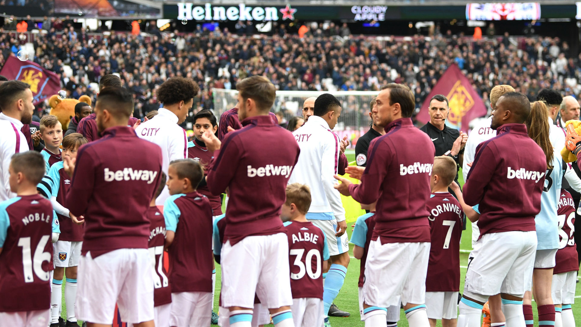 West Ham Man City guard of honour
