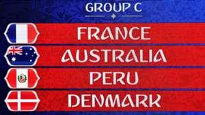 Gruppe C WM-Spielplan Frankreich Australien Peru Dänemark