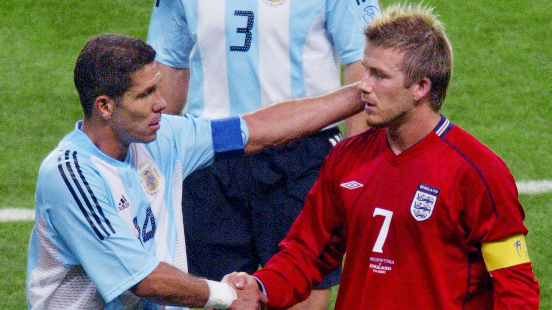 Diego Simeone Argentina David Beckham England World Cup 2002