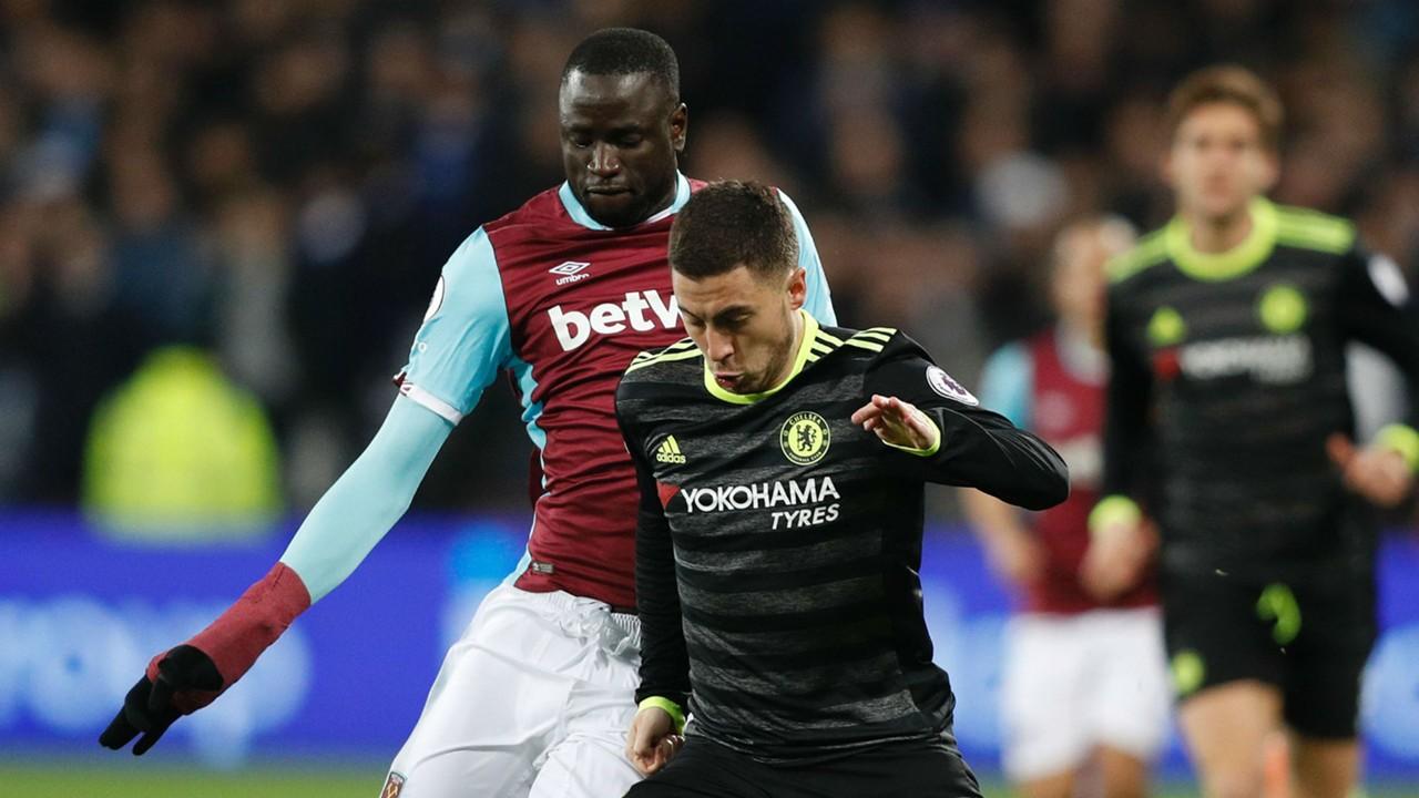 Cheikhou Kouyate West Ham Eden Hazard Chelsea