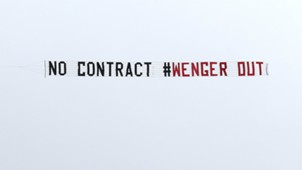 HD Wenger Out Banner Arsenal