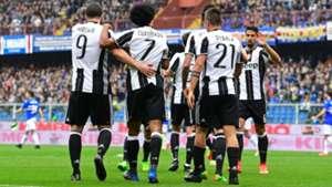 Juventus celebrating vs Sampdoria