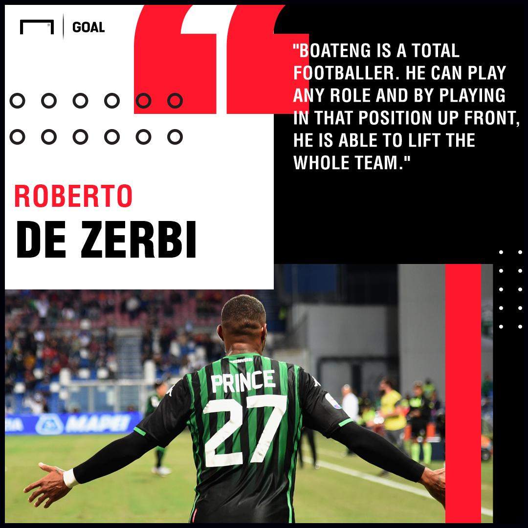 Kevin-Prince Boateng Roberto De Zerbi Sassuolo PS