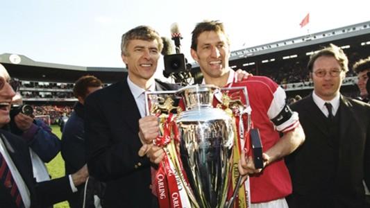 Arsene Wenger Tony Adams Arsenal