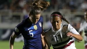 Kelley O'Hara USWNT Maria Sanchez Mexico