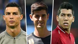 Cristiano Ronaldo Thibaut Courtois Roberto Firmino
