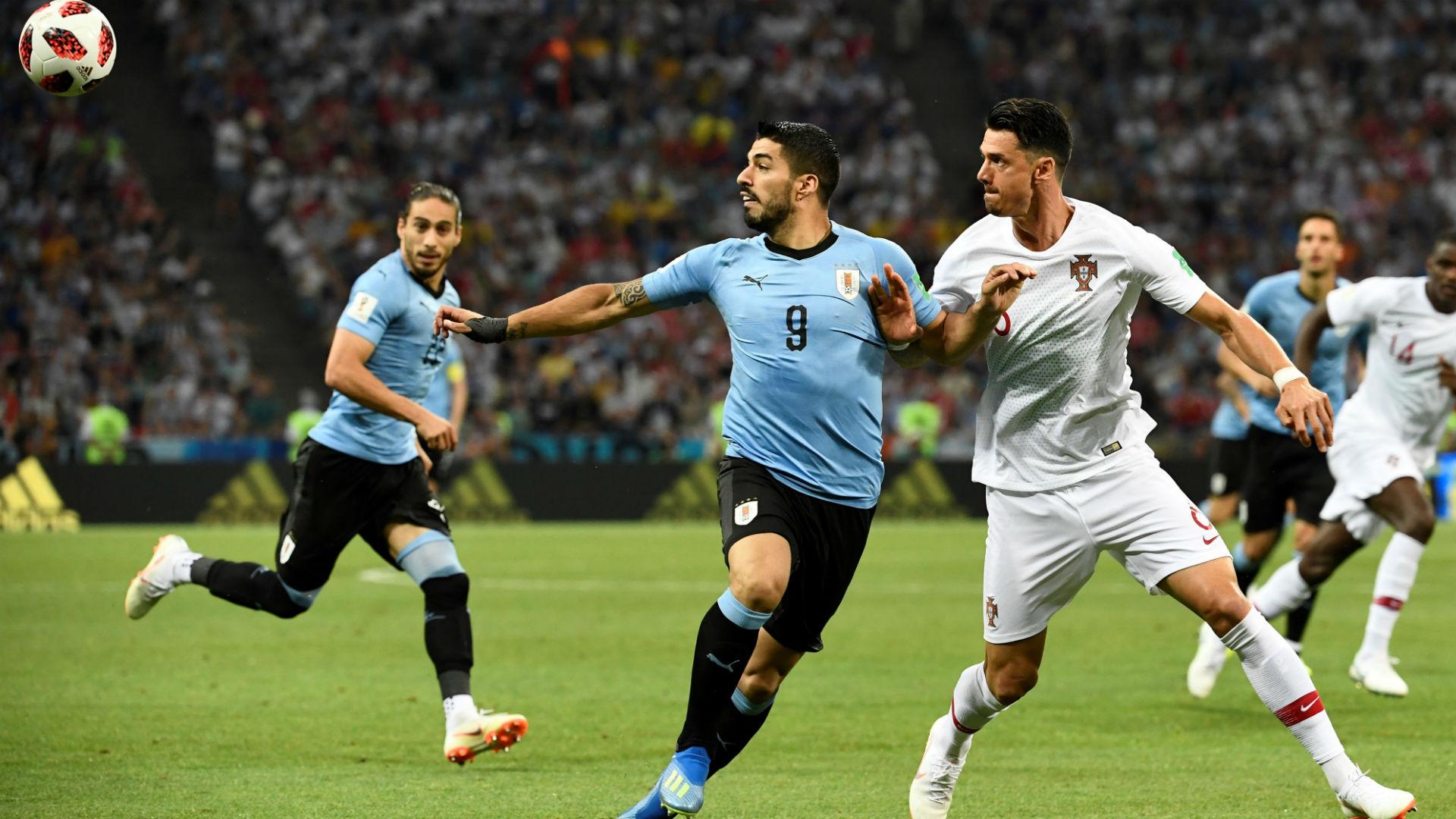 Jose Fonte Luis Suarez Uruguay Portugal World Cup 2018 30062018