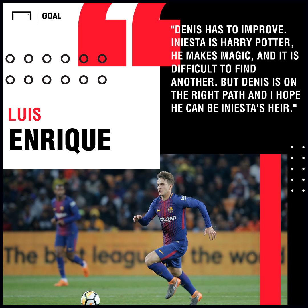 Denis Suarez Luis Enrique Iniesta Barcelona PS